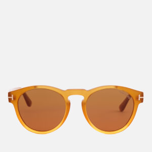 Tom Ford Men's Round Frame Sunglasses - Yellow/Other/Brown