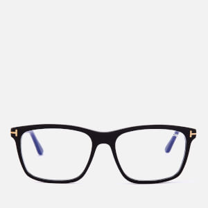Tom Ford Men's Blue Block Square Glasses - Shiny Black