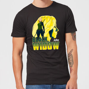 T-Shirt Homme Black Widow Avengers - Noir