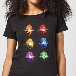 Avengers Infinity Stones Dames T-shirt - Zwart