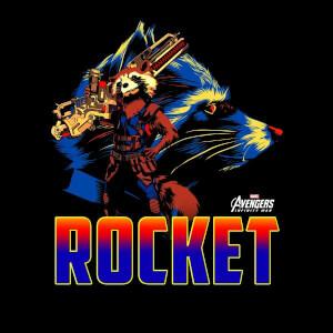 Avengers Rocket Women's T-Shirt - Black