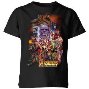 Avengers Team Portrait Kinder T-shirt - Zwart