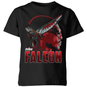 Avengers Falcon Kids' T-Shirt - Black