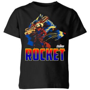 T-Shirt Enfant Rocket Raccoon Avengers - Noir