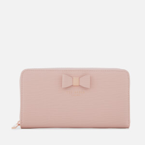Ted Baker Women's Peony Textured Zip Around Matinee Purse - Light Pink