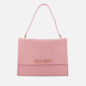 Ted Baker Women's Jessi Concertina Leather Shoulder Bag - Dusky Pink