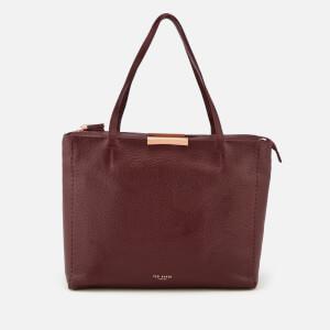 Ted Baker Women's Caullie Bow Detail Soft Shopper Bag - Deep Purple