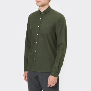 Oliver Spencer Men's Eton Collar Long Sleeve Shirt - Cooper Green