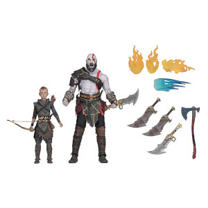 Lot de 2 Figurines Kratos et Atreus NECA God of War (2018) Ultimate 18 cm