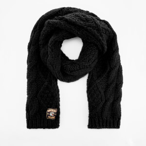 Superdry Women's Chic Regal Cable Scarf - Black