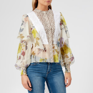 See By Chloé Women's Floral Patchwork Blouse - Multicoloured White