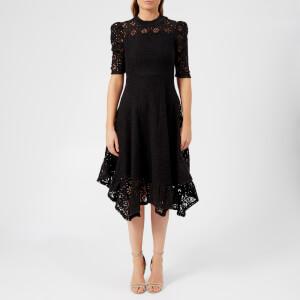 See By Chloé Women's Floral Jersey Lace Midi Dress - Black
