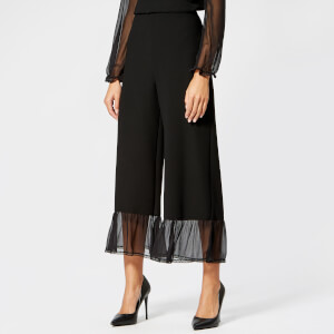 See By Chloé Women's Embellished Crepe Trousers - Black