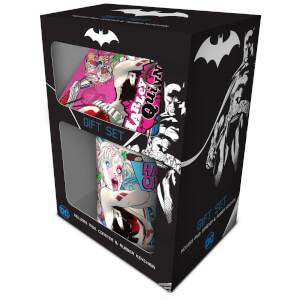 DC Comics (Harley Quinn) Mug, Coaster and Keychain Set