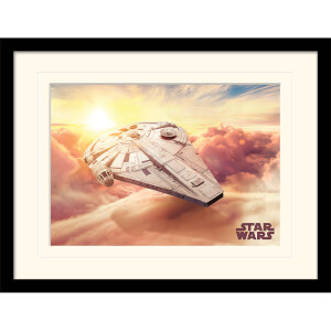 Solo: A Star Wars Story (Millennium Falcon) Mounted & Framed 30 x 40cm Print