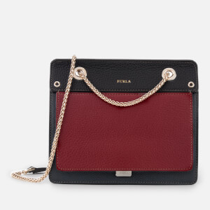 Furla Women's Like Mini Chain Cross Body Bag - Grey/Cherry/Black