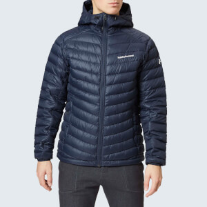 Peak Performance Men's Frost Down Hooded Jacket - Salute Blue
