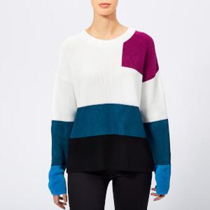 HUGO Women's Sarabi Colour Block Knitted Jumper - Multi