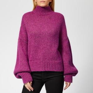 HUGO Women's Sacia Oversized Knitted Jumper - Pink