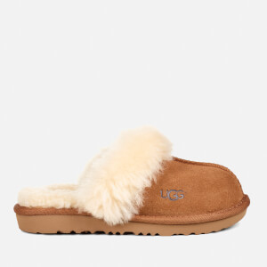 UGG Kid's Cozy II Suede Slippers - Chestnut