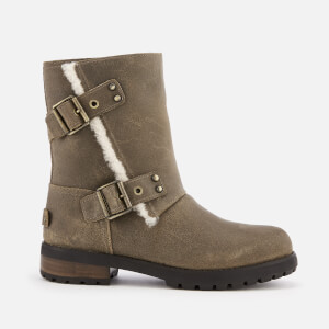 UGG Women's Niels II Water Resistant Leather Biker Boots - Dove