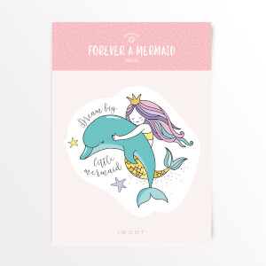 Forever A Mermaid Dream Big Vinyl Decal
