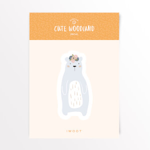 Cute Woodland Bear Vinyl Decal