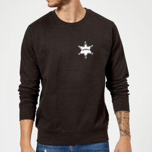 Toy Story Sheriff Woody Badge Sweatshirt - Black