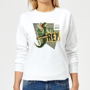 Toy Story Partysaurus Rex Women's Sweatshirt - White