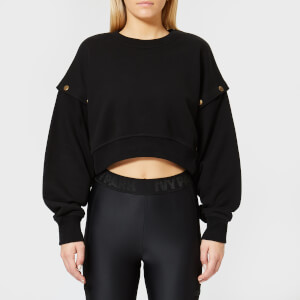 Ivy Park Women's Armour Poppers Crop Sweatshirt - Black
