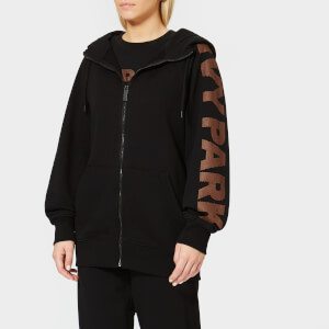 Ivy Park Women's Metallic Logo Zip Through Hoodie - Black