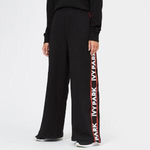 Ivy Park Women's Flatknit Wide Leg Joggers - Black