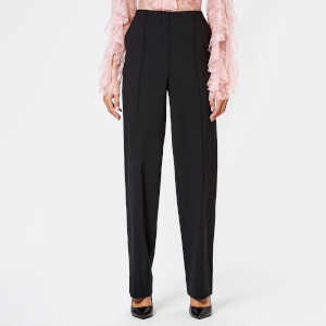 Diane von Furstenberg Women's Pleat Front Pants - Black