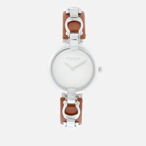 Coach Women's Coa Leather Watch - Tan
