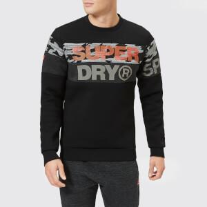 Superdry Sport Men's Gym Tech Cut Crew Neck Sweatshirt - Black/Camo