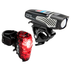 Niterider Lumina 1200 OLED Boost Front and Solas 250 Rear Light Set
