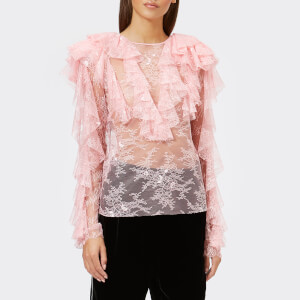 Philosophy di Lorenzo Serafini Women's Ruffle Frill Top - Pink