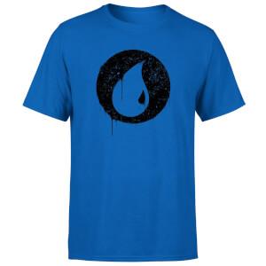 Magic The Gathering Blue Mana Splatter Men's T-Shirt - Royal Blue