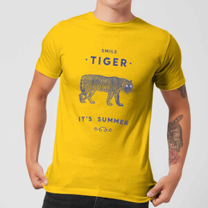 Florent Bodart Smile Tiger Men's T-Shirt - Yellow
