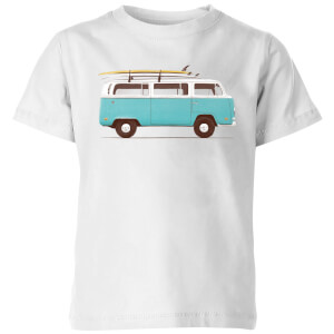 Florent Bodart Blue Van Kids' T-Shirt - White