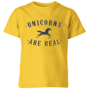 Unicorns Are Real Kids' T-Shirt - Yellow