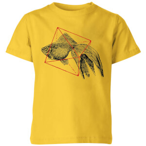 Florent Bodart Fish In Geometry Kids' T-Shirt - Yellow