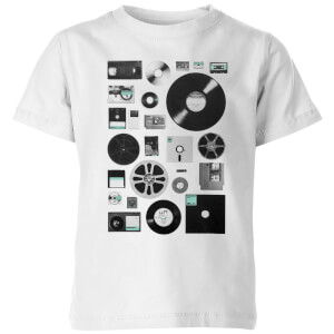 Florent Bodart Data Kids' T-Shirt - White