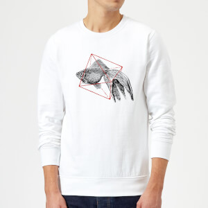 Florent Bodart Fish In Geometry Sweatshirt - White