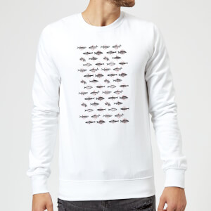 Florent Bodart Fish In Geometric Pattern Sweatshirt - White