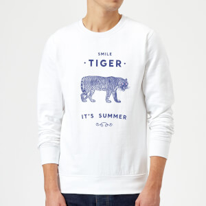 Florent Bodart Smile Tiger Sweatshirt - White