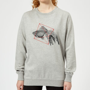 Florent Bodart Fish In Geometry Women's Sweatshirt - Grey