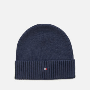 Tommy Hilfiger Men's Pima Cotton Cashmere Beanie - Navy