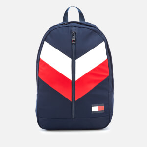 Tommy Hilfiger Men's Tommy Chevron Backpack - Navy/Red/White