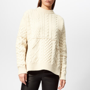 Golden Goose Deluxe Brand Women's Rochere Sweater - Off White Patch